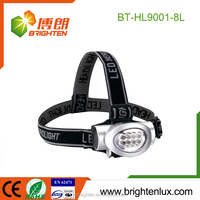Wholesale Cheap Price Portable ABS Plastic Rechargeable 3 mode Head Light High Power 8 Led Headlamp led head torch