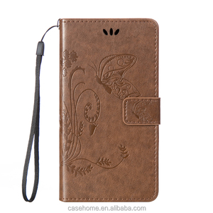 Stock embossed Butterfly flip cover for Huawei mate 8 leather case , for Huawei mate 8 stand phone casing