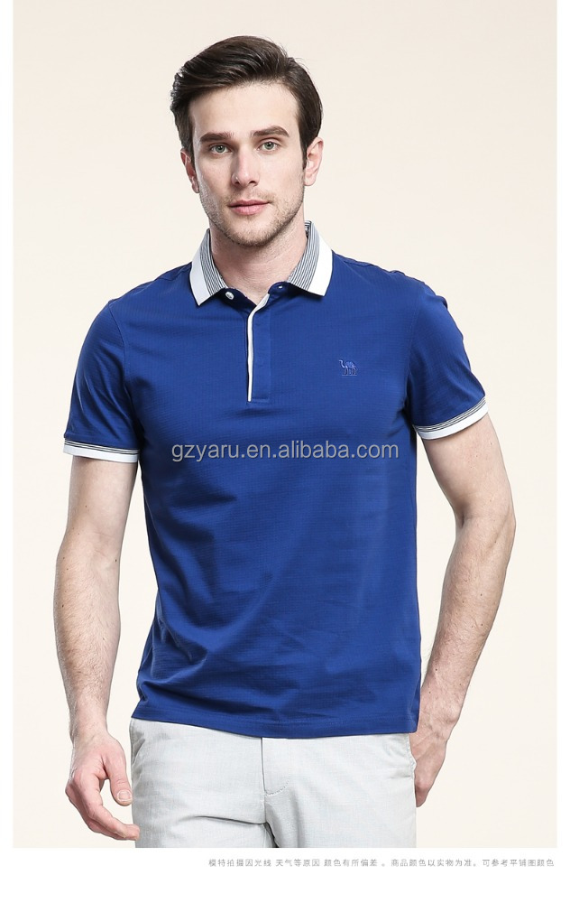 Men's casual bussiness cotton short sleeve POLO T Shirt