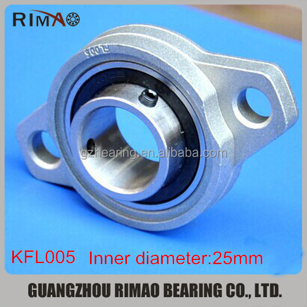 Hot sale zinc alloy pillow block ball bearing KFL005 bearing unit