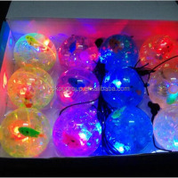 2015 Hot Sale Decorative Water Crystal Balls Novelty Led Crystal Water Bounce Ball