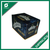 COLOR PRINTED WINE BOTTLE CARDBOARD WHOLESALE SHIPPING BOXES 24 BOTTLES BEER SHIPPING BOX WITH DIVIDERS