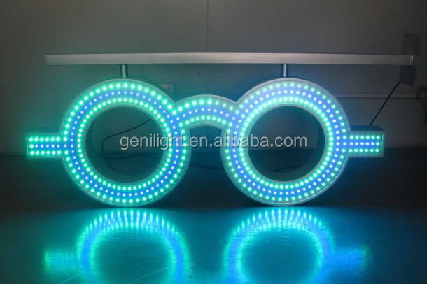 2015 NEW!!!! LED GLASSES SIGN