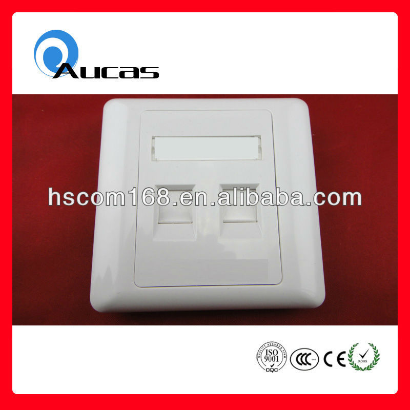 Good quality best price rj45 surface mount box single and 2 port for keystone jack