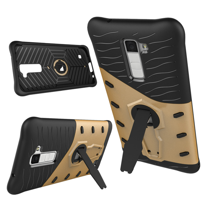 2 in 1 hybrid shockproof mobile phone sniper case for lg <strong>k10</strong>