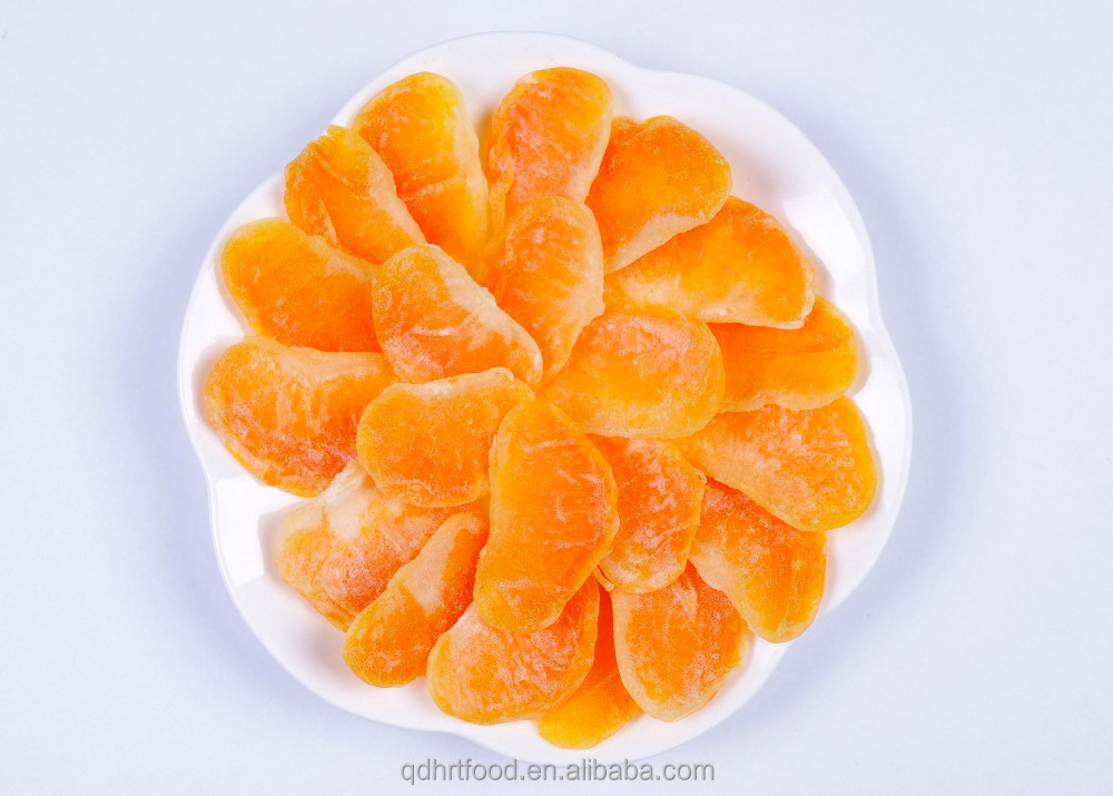 HACCP & ISO with competitive price Natural and Healthy Dried Mandarin Orange Slice dried fruit