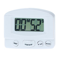 White household kitchen countdown timer digital electronic timer Magnetic Unique Kitchen Timer