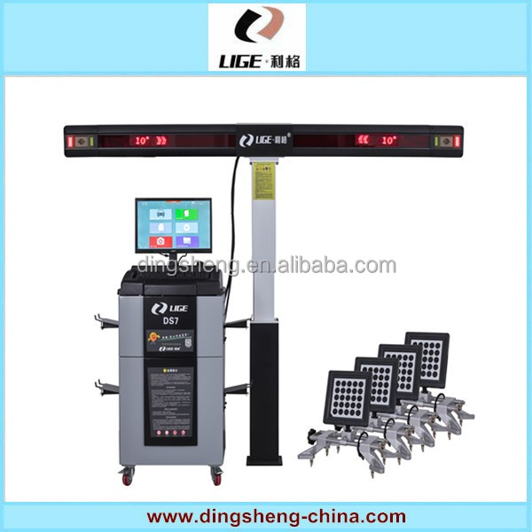 LIGE equipment for auto repair garage/ce approved used wheel alignment machine DS-7