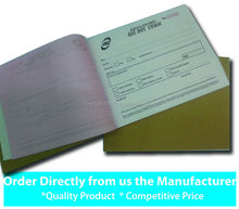 Carbonless invoice and receipt book printing