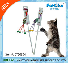cat catcher teaser wand with bugs and beatles cat toy China supplier