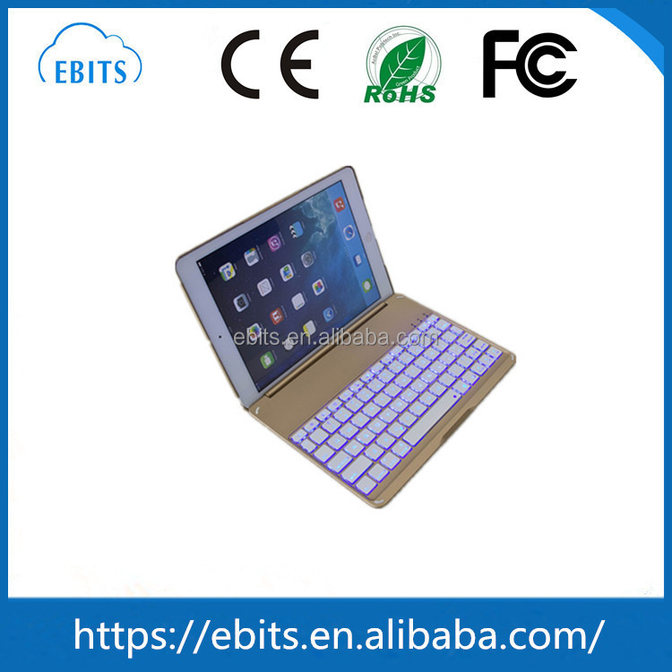 For iPad Air2 backlight wireless bluetooth keyboard with 7color backlight