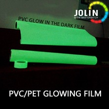 PVC material JF-C1 glow in the dark vinyl stick roll photoluminescent tape for safety line sign usage