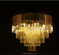 modern roundness metal on chandelier with K9 crystal chandelier parts lamp