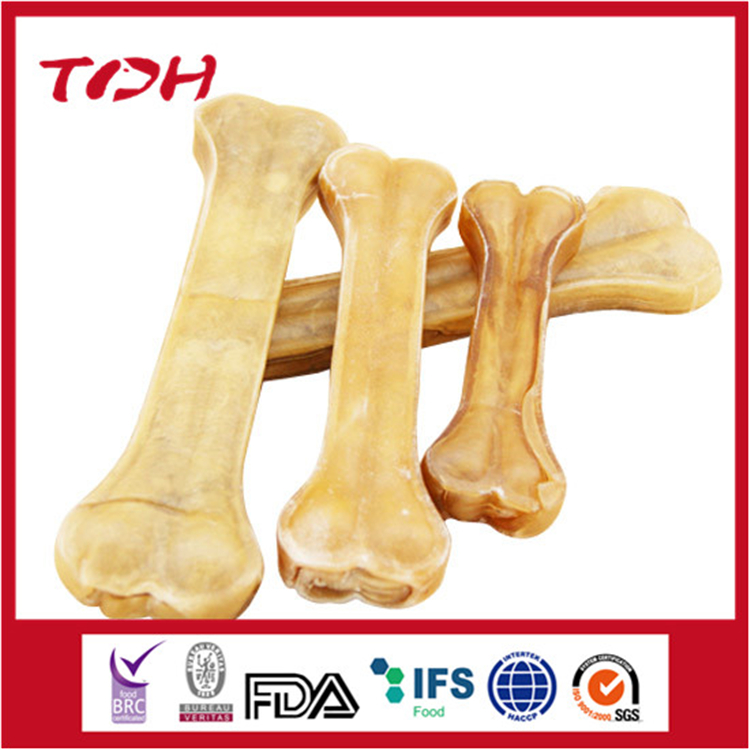 Rawhide Knotted Bone with Chicken Dog Food Pet Food Dog Chew Dog Snacks