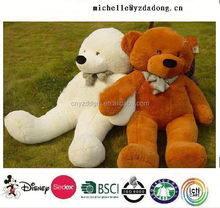 free sample big teddy bear 200cm plush bear/stuffed big size bear toy/plush giant bear toy skin