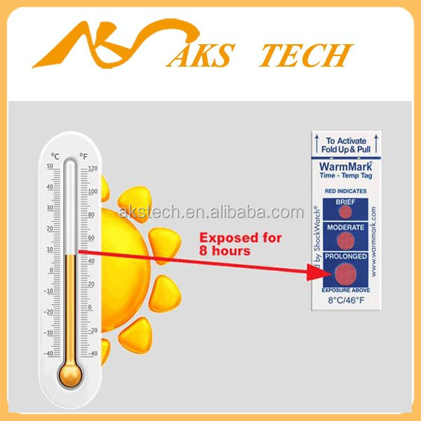 Temperature Label WarmMark Ascending Time Temperature Indicators