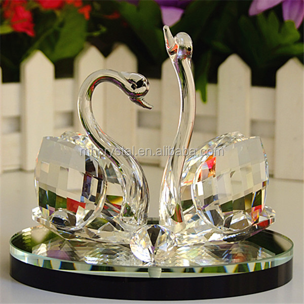 CRYSTAL Kissing Glass swan MH-D0428