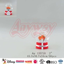 High Quality france annecy city souvenir snow globe with magnet