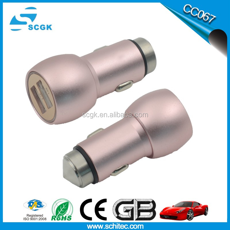 Latest Universal car cigarette socket 5v 2.1a dual usb car charger