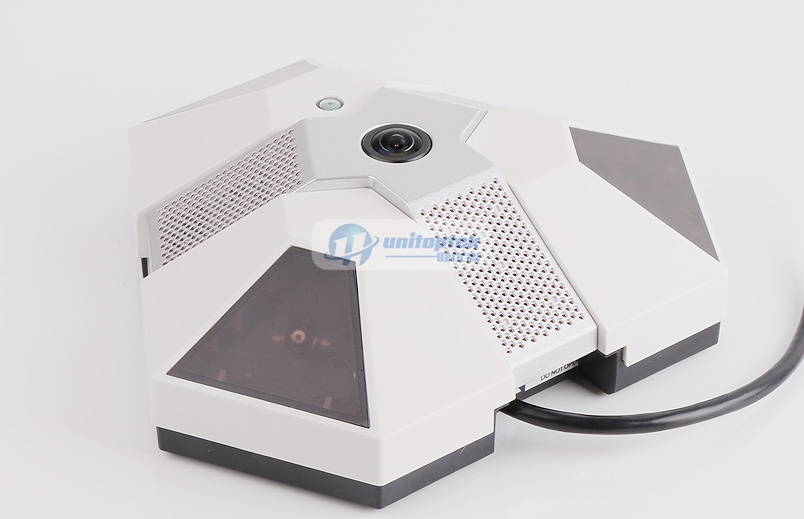 HD 2.0MP IP Camera Alarm Clock Support 360 Degree View Panorama Fisheye POE IR Night Vision With 5MP 1.56mm Lens