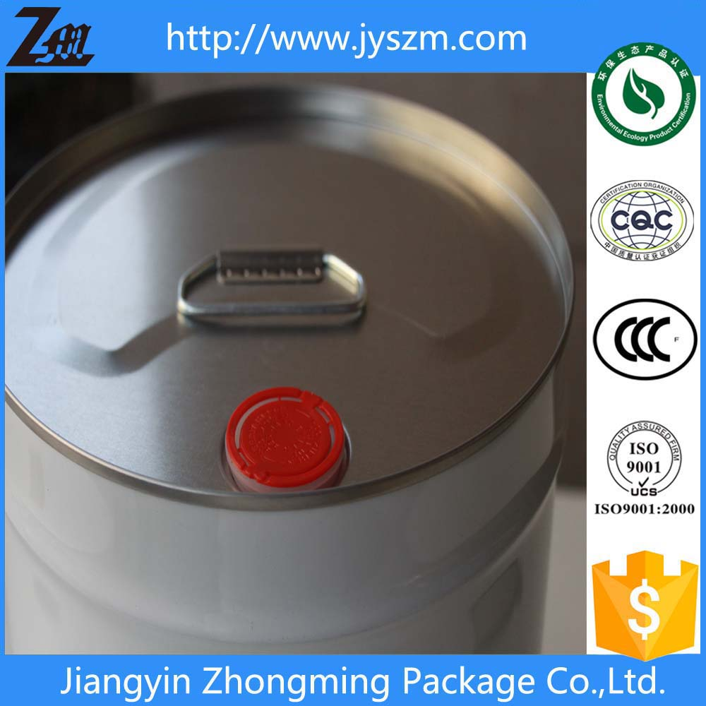 metal tin/tinplate oil barrel with lid and handle