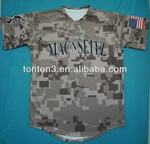 Custom Sublimation Own Design Camo Baseball Jerseys