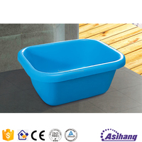 AS37021 blue colored inflatable plastic small bathtub