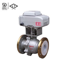 High quality pvc 3 way electric flange ball valve with 5 inch