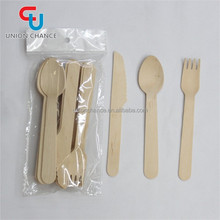Eco Tableware Set Wooden Spoon/Fork/Knife Disposable Party Items