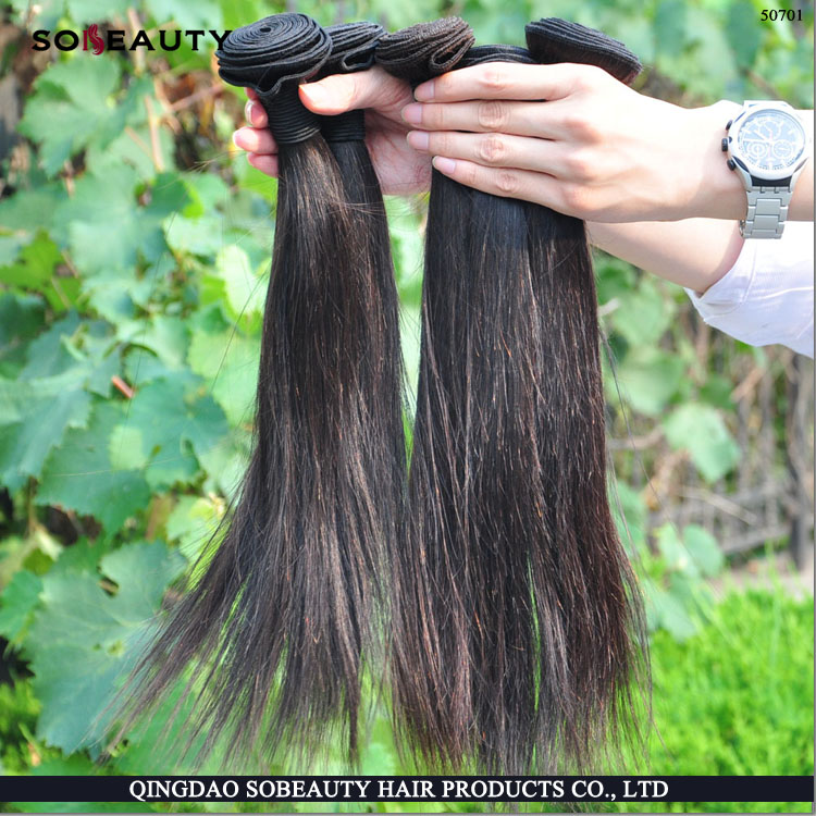 2015 aliexpress Hot Sale raw unprocessed top Grade virgin jet black brazilian hair