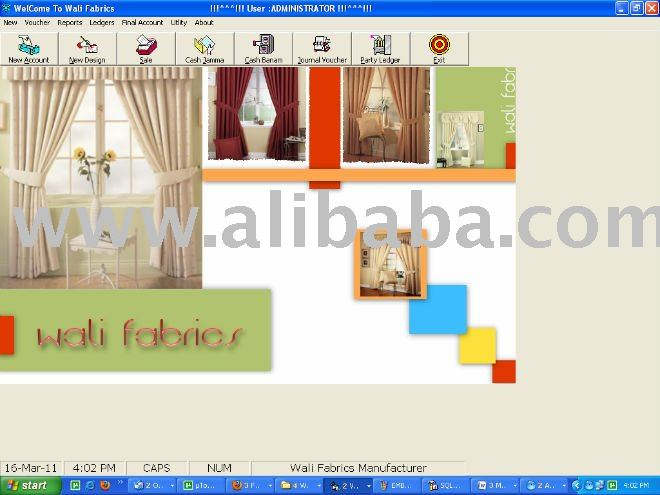 CURTAIN CLOTH INDUSTRY MANGEMENT SOFTWARE