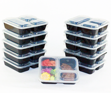 Meal Prep 3 Compartment BPA FREE Premium Food Storage Containers Durable Reusable 36 oz Stackable Pack Microwaveable