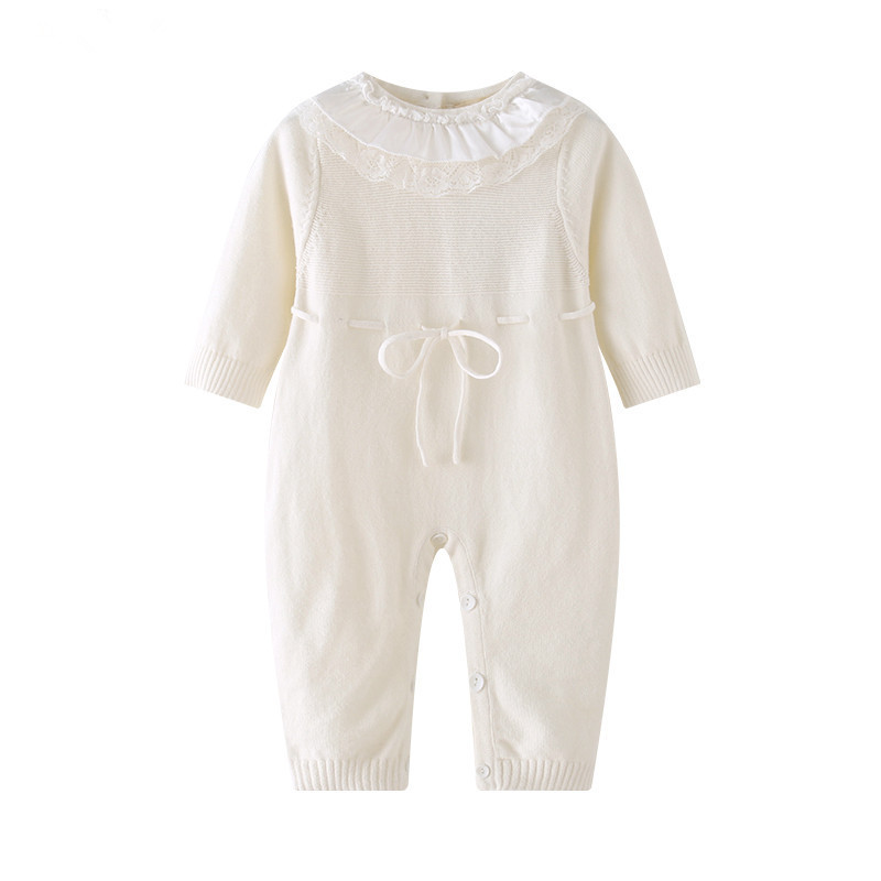 QK992 Infant Baby Boy Girls Warm Clothes Long Sleeve Baby Rompers Jumpsuit