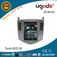 ugode new product tesla 10.4 inch Vertical Screen android car audio for BYD S6