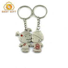 Angel Kiss Couple Metal Magnetic Lovers Sweet Gift Keychains