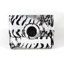 360 Degrees Rotating Stand Zebra Stylish leather tablet pc protective sleeve