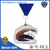Custom irregular silver plated soft enamel award metal medal with jump rings