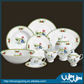porcelain dinner set with flower print wwd-130088