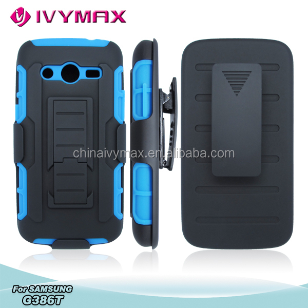 heavy shockproof case for galaxy avant/G386T robot combo case