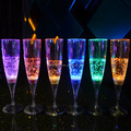 Party favor round bottom drinks glass with led light
