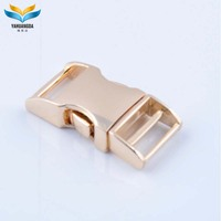 custom logo side release metal buckles wholesale