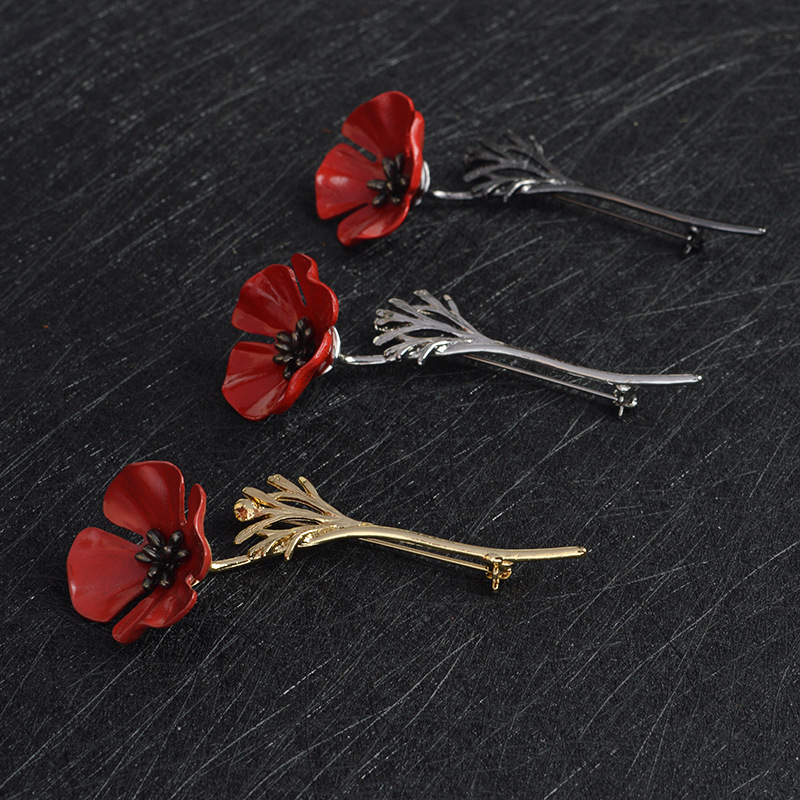 Wholesale red flower pin online buy best red flower pin from china fashion strongredstrong poppy strongflower mightylinksfo