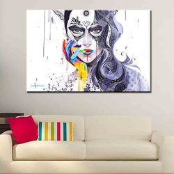 Direct painting modern canvas Sexy girl picture wall paintings unframed for living room