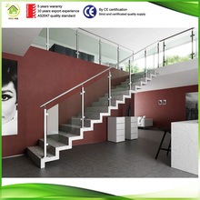 Powder coated aluminum stair hand railing for building