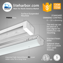 Wholesale commercial or industrial application tunable CCT 4ft or 8ft linear surface mounted led light fixtures