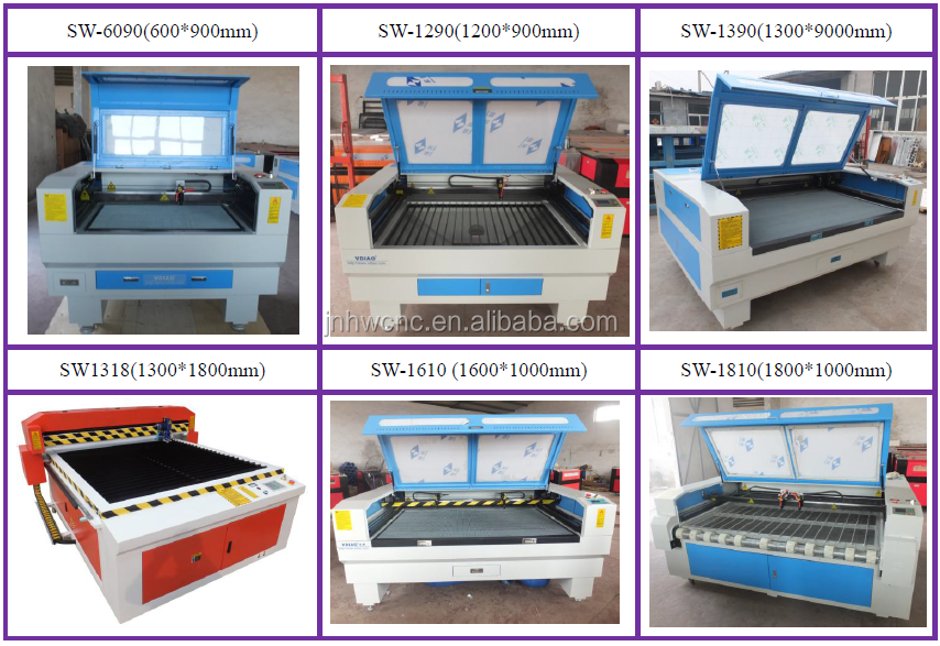 SW-1325 co2 1mm stainless steel metal and non metal laser cutting machine