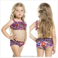 2017 custom design sexy bikini kids, sexy two piece bikinis for little girls