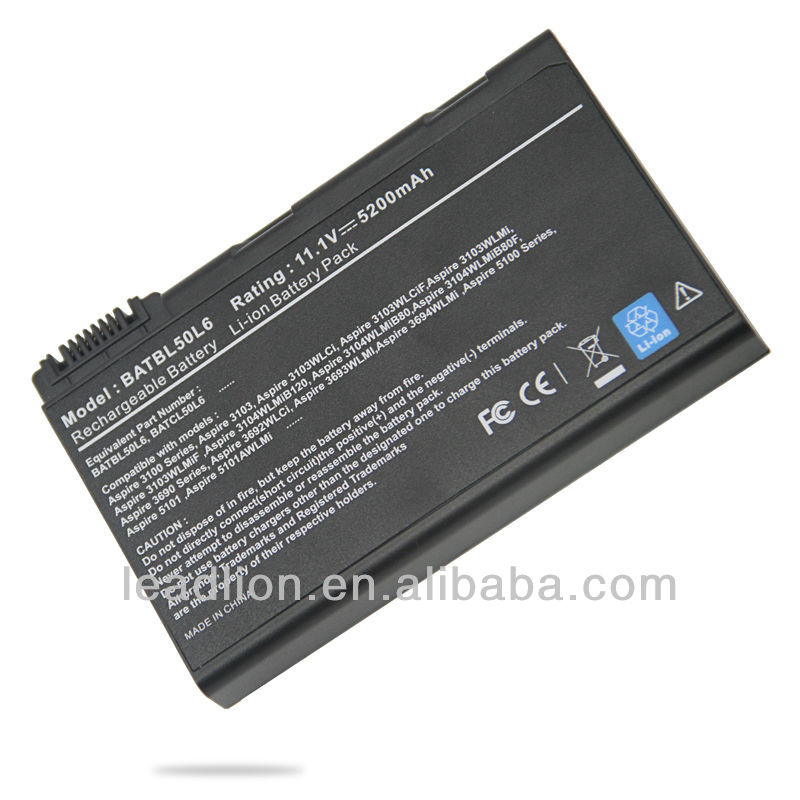 laptop battery for Acer Aspire 3100 5100 5610 BATBL50L6 BATBL50L8