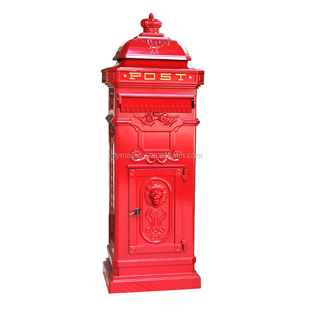 Aluminum mailbox post Attractive Red Free Standing Die Cast Aluminum Mailbox Post Box Letter Box Mail Box Letterboxes Bellacor Red Free Standing Die Cast Aluminum Mailbox Post Box Letter Box Mail