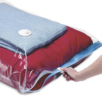 Clear Plastic Zippered Vacuum Storage Bag For Clothes Compressed 3 Times More Time